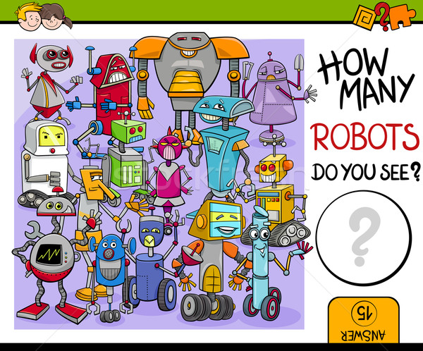 how many robots Stock photo © izakowski