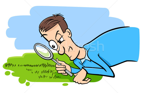 Gezegde kijken gras groeien humor cartoon Stockfoto © izakowski