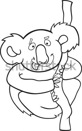 husky or malamute dog cartoon for coloring Stock photo © izakowski