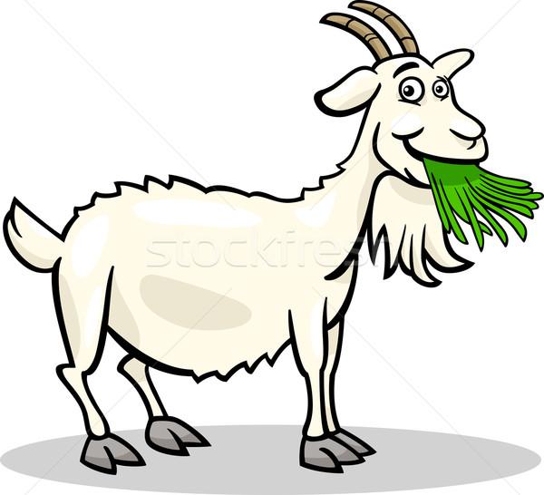 goat farm animal cartoon illustration Stock photo © izakowski