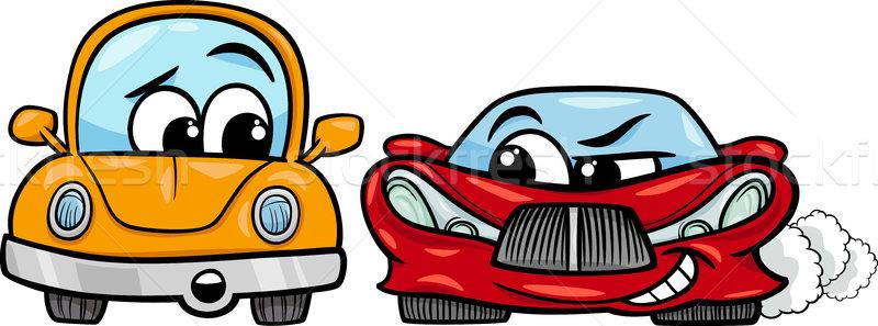 öreg autómobil sportautó rajz illusztráció rosszakaratú Stock fotó © izakowski