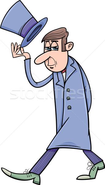 distinguished man cartoon Stock photo © izakowski