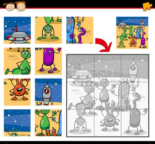 Desenho animado jogo ilustração educação Foto stock © izakowski
