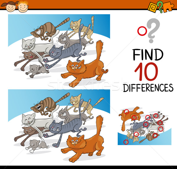 differences game for children Stock photo © izakowski