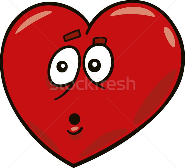 startled heart Stock photo © izakowski
