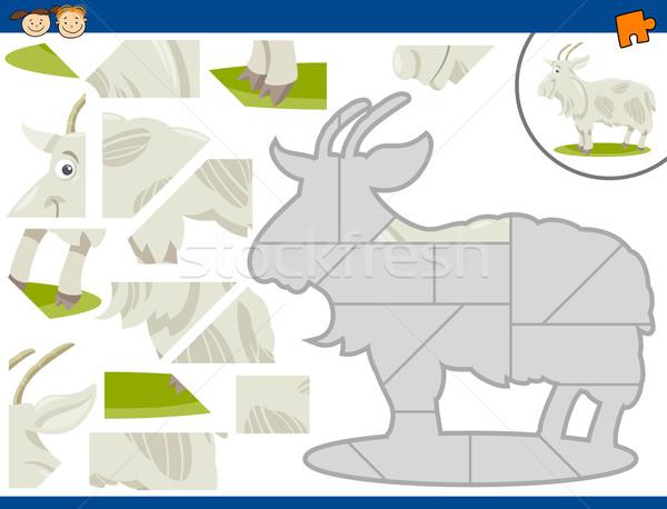 Cartoon cabra rompecabezas tarea ilustración educativo Foto stock © izakowski
