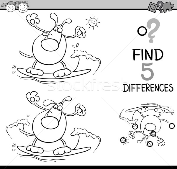 task of differences coloring book Stock photo © izakowski