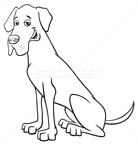 grea dane dog cartoon Stock photo © izakowski