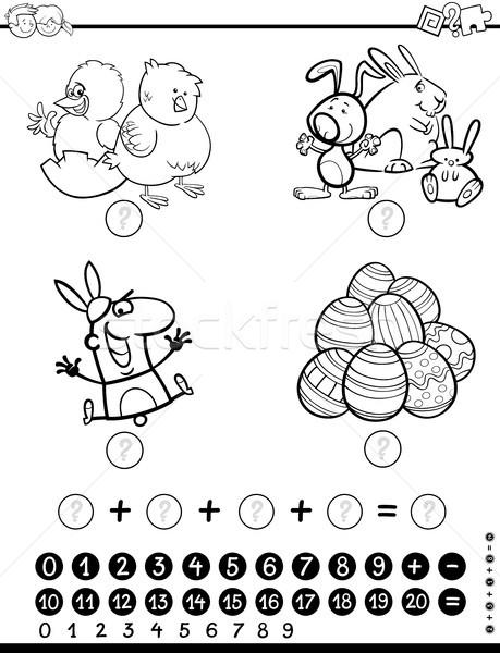maths activity game coloring page Stock photo © izakowski