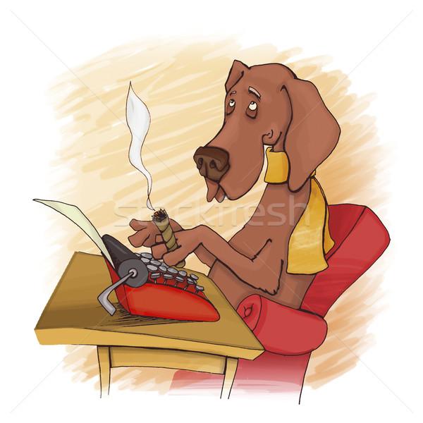 dog writer Stock photo © izakowski