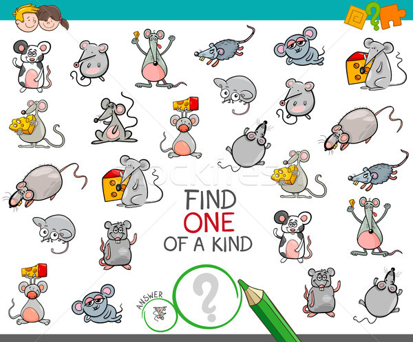 find one of a kind with mouse characters Stock photo © izakowski