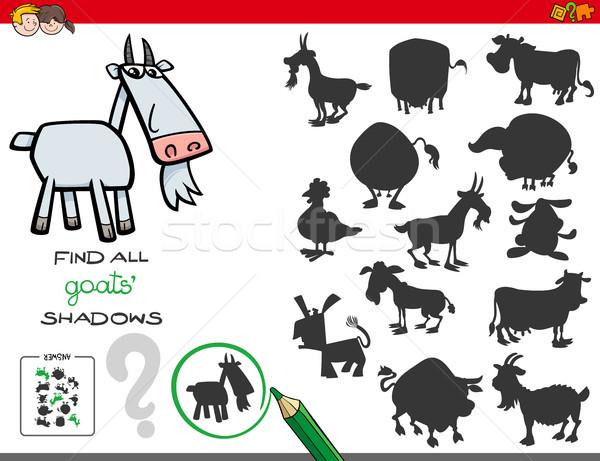Gölgeler oyun keçi karikatür örnek Stok fotoğraf © izakowski