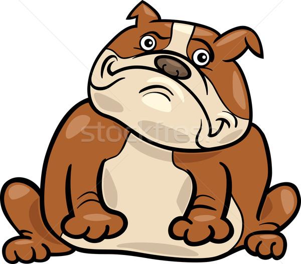 Stock photo: english bulldog dog cartoon illustration