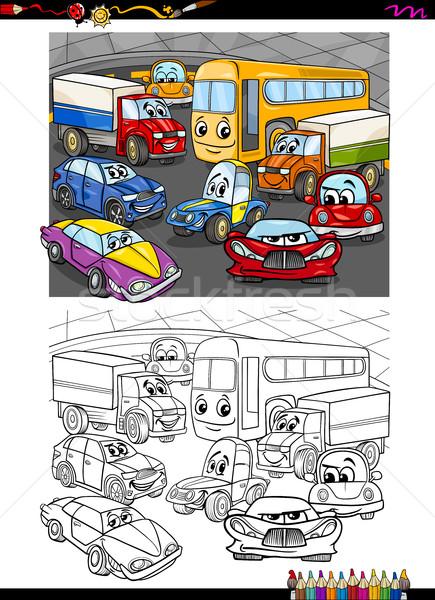 Carros Grupo Livro Para Colorir Desenho Animado