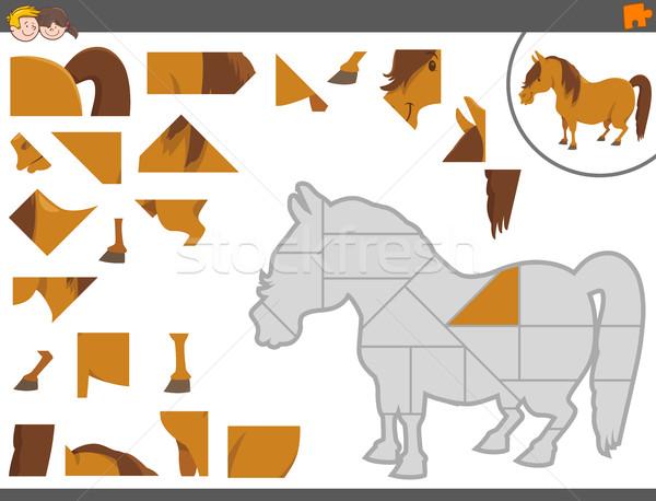 jigsaw puzzle game with pony Stock photo © izakowski