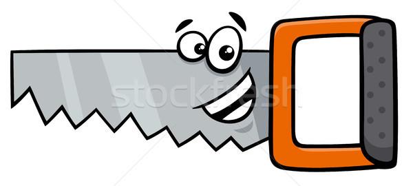 Hout zag cartoon illustratie tool Stockfoto © izakowski