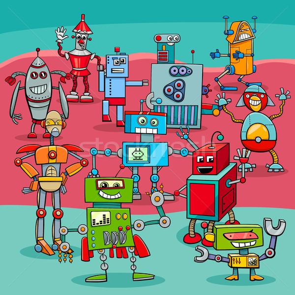 Rajz robot fantázia betűk illusztráció vicces Stock fotó © izakowski