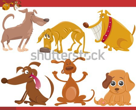 three howling dogs Stock photo © izakowski