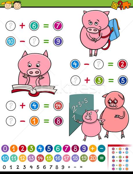 Algebra gioco cartoon illustrazione istruzione matematico Foto d'archivio © izakowski