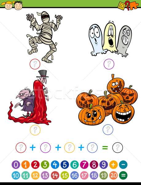 Tarea Cartoon ilustración educación matemático Foto stock © izakowski
