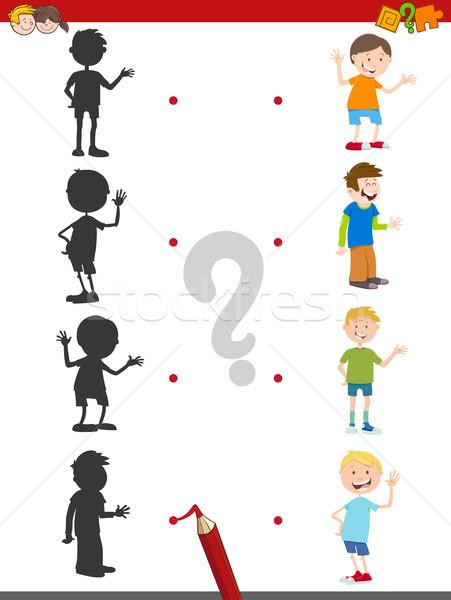 cartoon shadow activity with kids Stock photo © izakowski
