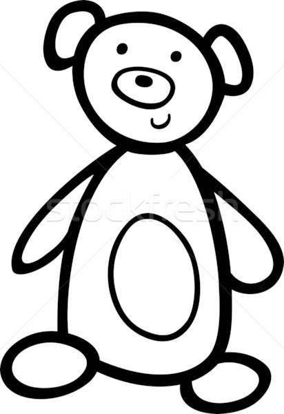 Stock photo: teddy bear for coloring book