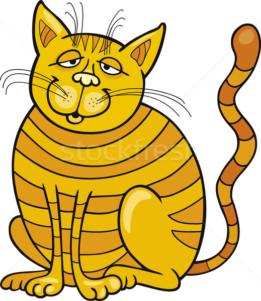 Happy Yellow Cat Stock photo © izakowski