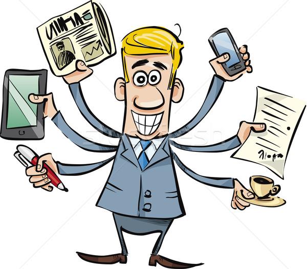 busy businessman Stock photo © izakowski