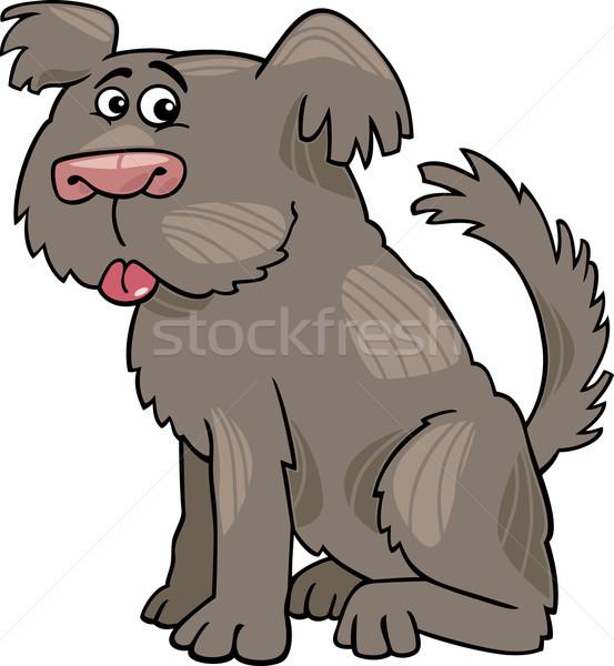 овчарка собака Cartoon иллюстрация смешные Сток-фото © izakowski
