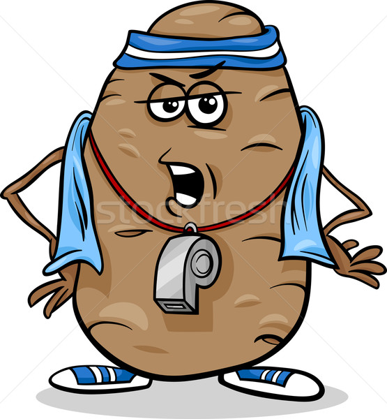 couch potato saying cartoon Stock photo © izakowski