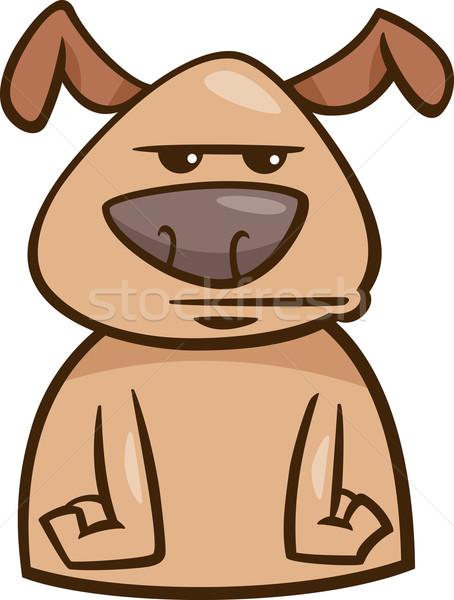 Hangulat unatkozik kutya rajz illusztráció vicces Stock fotó © izakowski