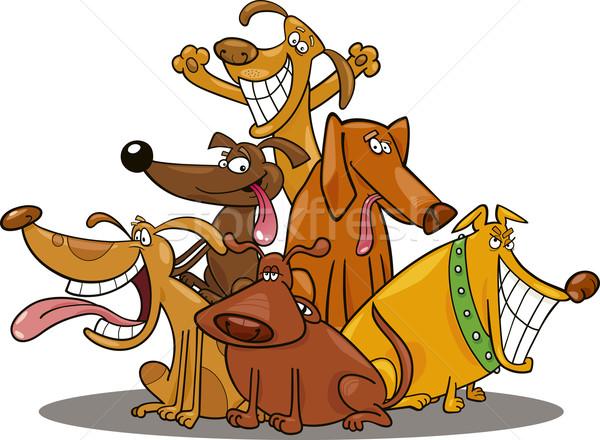 funny dogs Stock photo © izakowski