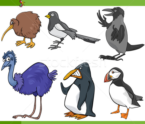 birds cartoon set illustration Stock photo © izakowski