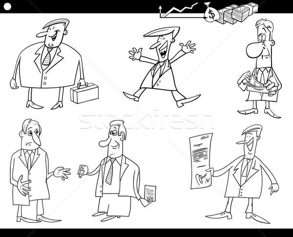 cartoon businessmen set Stock photo © izakowski
