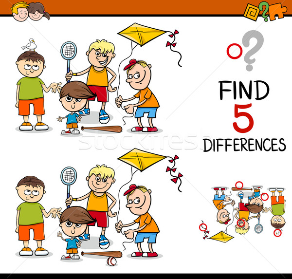 differences activity for kids Stock photo © izakowski