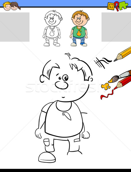 task of drawing and coloring Stock photo © izakowski