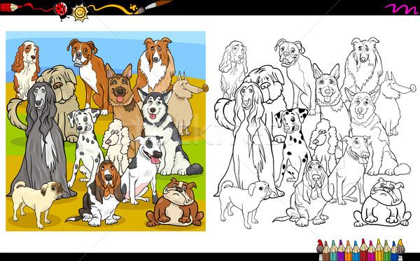 purebred dogs coloring book Stock photo © izakowski