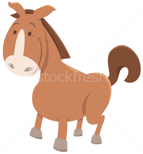 horse or pony cartoon animal Stock photo © izakowski