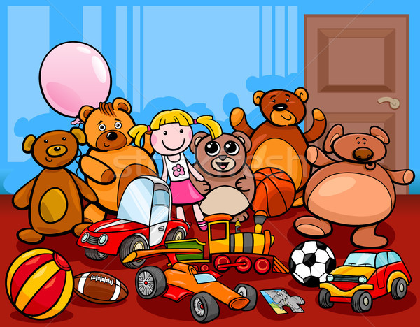 toys group cartoon illustration Stock photo © izakowski