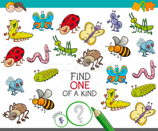 one of a kind game with insect animals Stock photo © izakowski