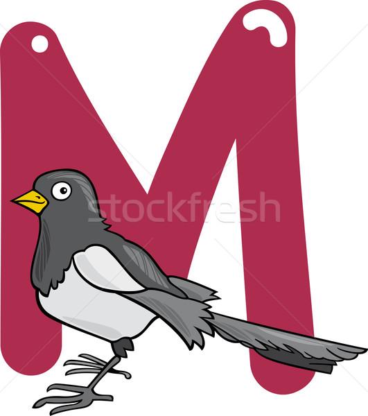 M for magpie Stock photo © izakowski