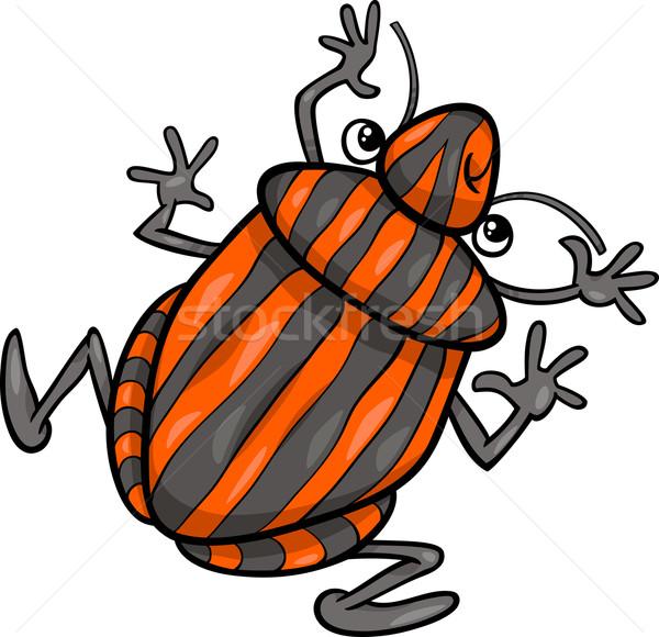 shield bug insect cartoon character Stock photo © izakowski