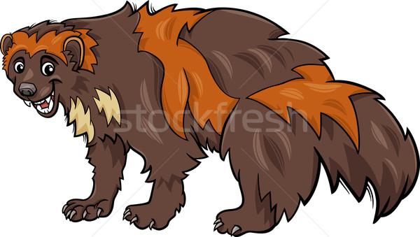 wolverine animal cartoon illustration Stock photo © izakowski