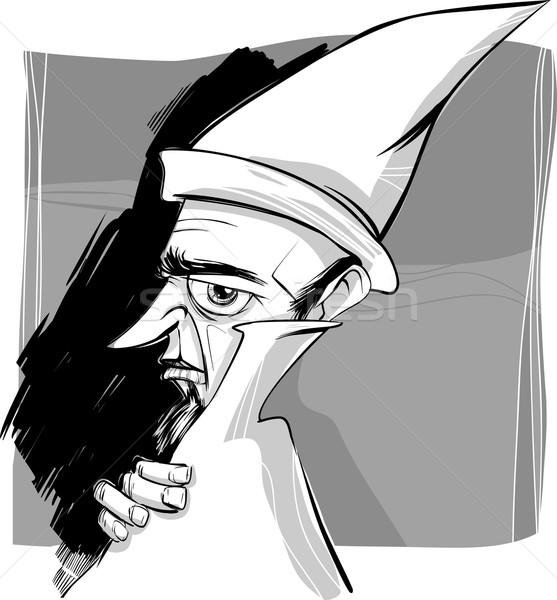 wizard sketch drawing illustration Stock photo © izakowski