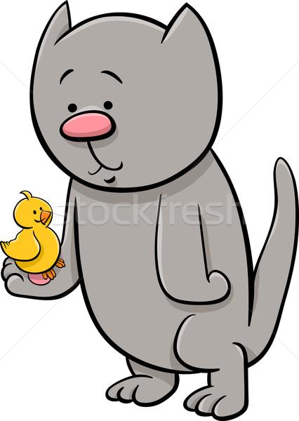 猫 カナリア 漫画 実例 子猫 赤ちゃん ストックフォト © izakowski