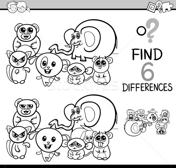 game of differences coloring page Stock photo © izakowski