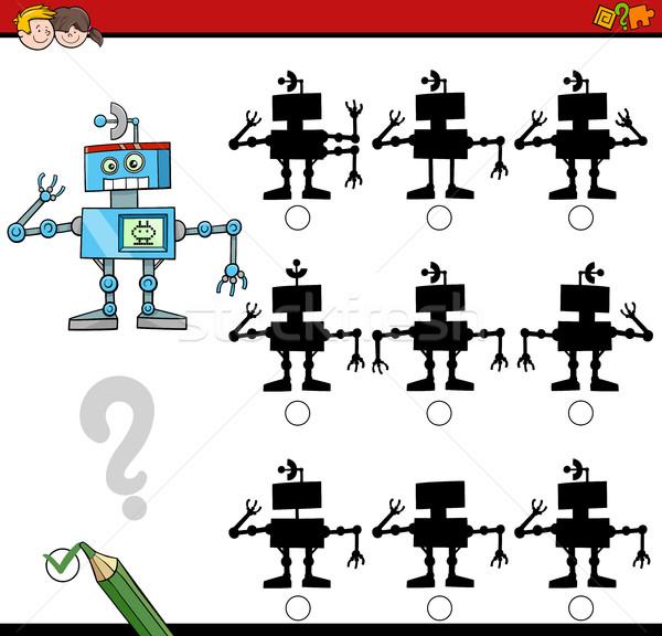 Sombra diferenças atividade jogo desenho animado ilustração Foto stock © izakowski