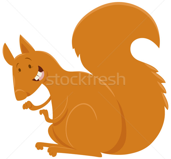 squirrel cartoon animal character Stock photo © izakowski