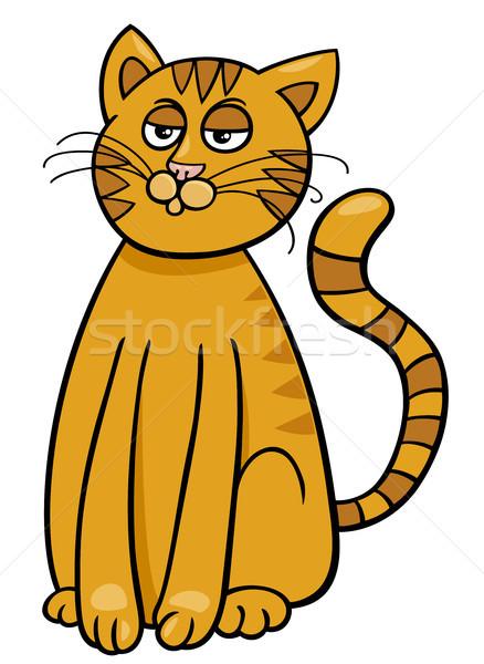 Gato doméstico Cartoon cómico animales carácter ilustración Foto stock © izakowski