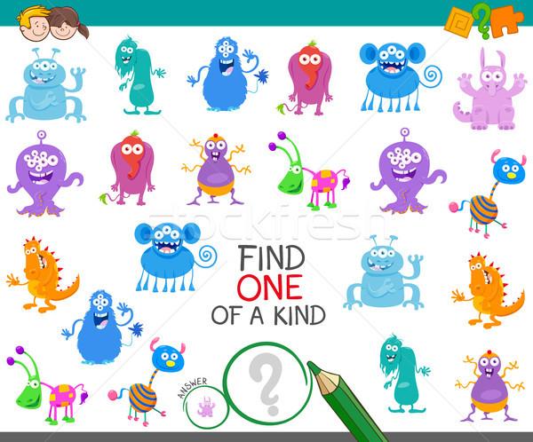 find one monster of a kind game Stock photo © izakowski